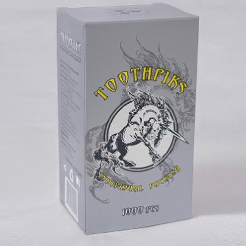 Зубочистки в индивидуальной упаковке в белой пленке с логотипом 1000 шт. (от 20 мест)