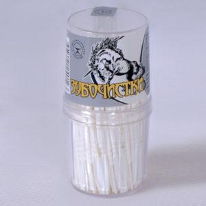 Пластиковая зубочистка в диспенцере
